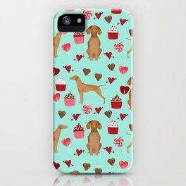 Vizsla valentines day dog breed gifts for dog lover unique dog pet portraits animal art iPhone Case
