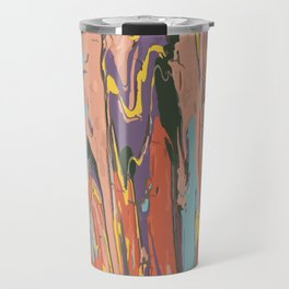 Baesic Primary Paint Drips Travel Mug