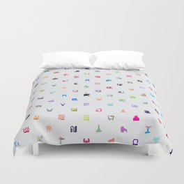 Everything and Everyone Duvet Cover