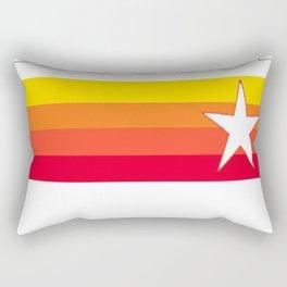 Houston Astros Baseball Throwback Stripes Vintage Rectangular Pillow