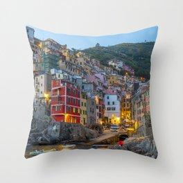 Riomaggiore of Cinque Terre Throw Pillow
