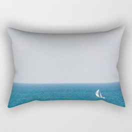 Sailing alone II Rectangular Pillow