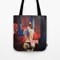 musa Tote Bags featuring La Musa / The Muse by GaeTano & Valentina