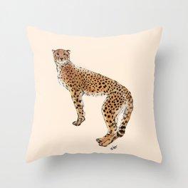 Cheetah Natural Jungle_ Ochres & neutral tans  Throw Pillow