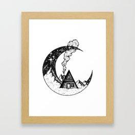 Cabin on the Moon Framed Art Print