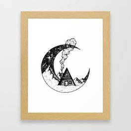 Cabin on the Moon Framed Art Print