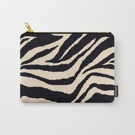 Zebra Animal Print Black and off White Pattern Carry-All Pouch