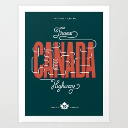 Trans-Canada Highway Art Print