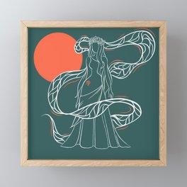 Zodiac Illustration - Virgo Framed Mini Art Print