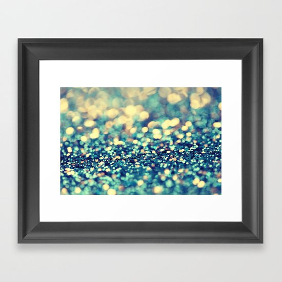 Blue and Silver - an abstract photograph Framed Art Print