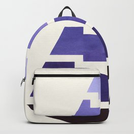 Purple Watercolor Ombre Geometric Aztec Triangle Pyramid Pattern Minimalist Mid Century Design Backpack