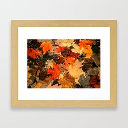 mixing colours Framed Art Print