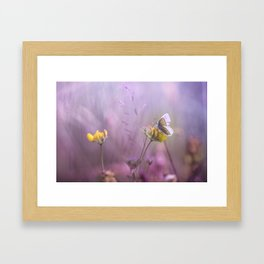 It's only me.... and this little one... Framed Art Print