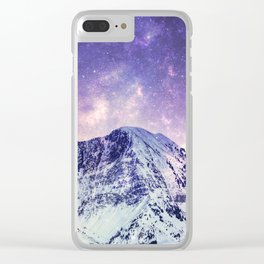 Space Torn - Snowy Mountains himalayas everest Clear iPhone Case