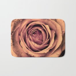 Vintage Rose,peach Bath Mat
