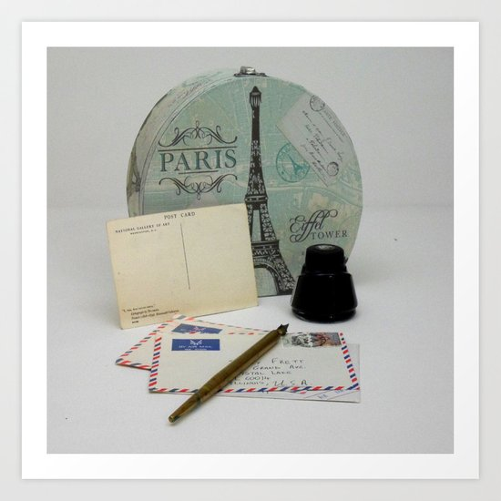 Love Letters From Paris 2 Art Print