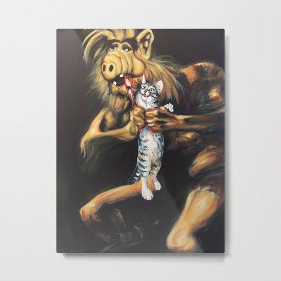 Alf Devouring His Cat Metal Print