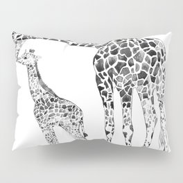 Giraffes, black and white Pillow Sham