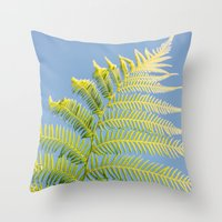 fern Throw Pillows featuring Fern by Pati Designs