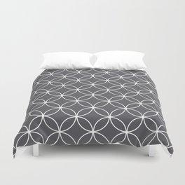 Circles Graphite Gray Duvet Cover