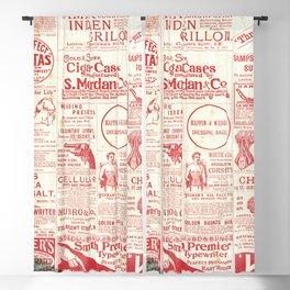 The old newspaper, vintage design illustration Blackout Curtain