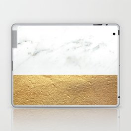 Color Blocked Gold & Marble Laptop & iPad Skin