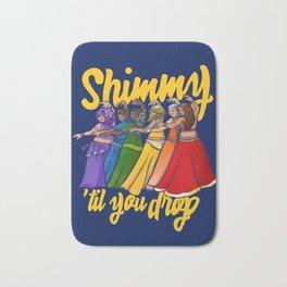 Shimmy 'til you drop rainbow belly dancer Bath Mat