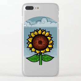 kitschy sunflower Clear iPhone Case