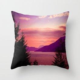 Sunset Sea to Sky Throw Pillow