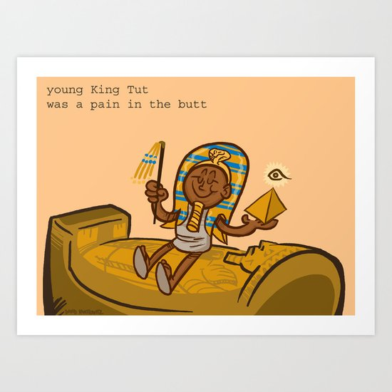 King Tut Art Print