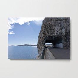 Cote d'Azur Road Metal Print