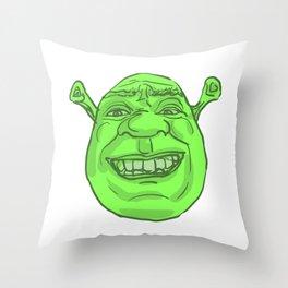 Shrek's Face Throw Pillow