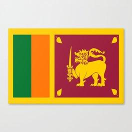Flag of sri Lanka -ceylon,India, Asia,Sinhalese, Tamil,Pali,Buddhist,hindouist,Colombo,Moratuwa,tea Canvas Print