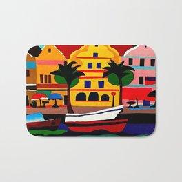 Curacao Vintage Travel Poster Bath Mat