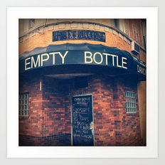 Empty Bottle  Art Print
