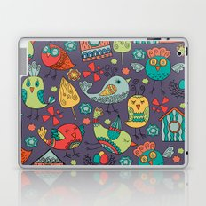 Abstract colorful hand drawn floral pattern design Laptop & iPad Skin