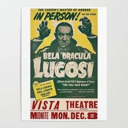 Dracula, Bela Lugosi, vintage poster Poster