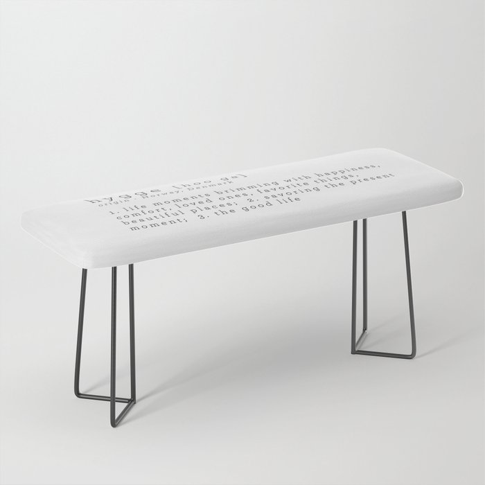 THE MEANING OF HYGGE Bench