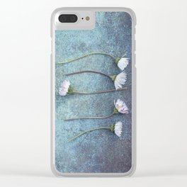 Daisies in a row Clear iPhone Case