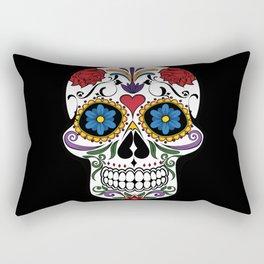 Colorful Sugar Skull Rectangular Pillow