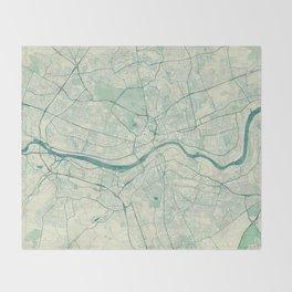 Newcastle upon Tyne Blue Vintage Throw Blanket