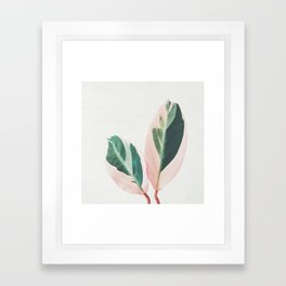 Pink Leaves I Framed Art Print