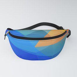 Blue Orange Polygon Abstract Fanny Pack
