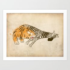 A Self Containing Food Chain Art Print