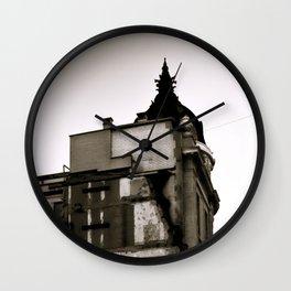 Surrealist Urban City. Wall Clock