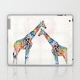 Colorful Giraffe Art - I've Got Your Back - By Sharon Cummings Laptop & iPad Skin