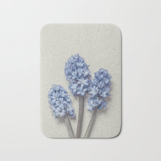 Light Blue Hyacinths Bath Mat