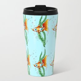Goldfish Colorful Fish Pattern Travel Mug