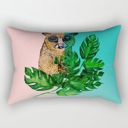 Cute Lemur Watercolor Rectangular Pillow