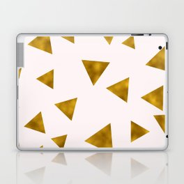 Soft Pink And Rustic Gold Triangles Laptop & iPad Skin